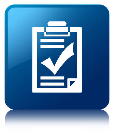 checklist: Checklist icon blue square button