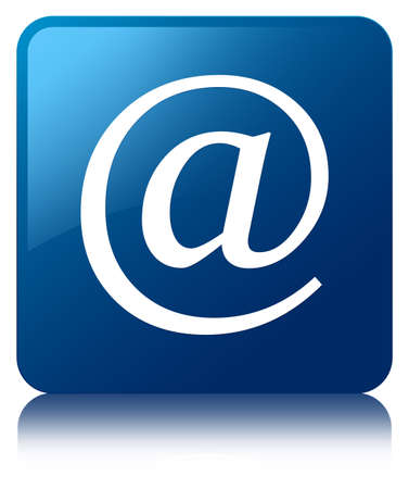 email address: Email address icon blue square button Stock Photo