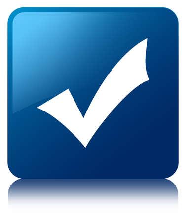 validation: Validation icon blue square button