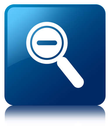 zoom out: Zoom out icon blue square button Stock Photo