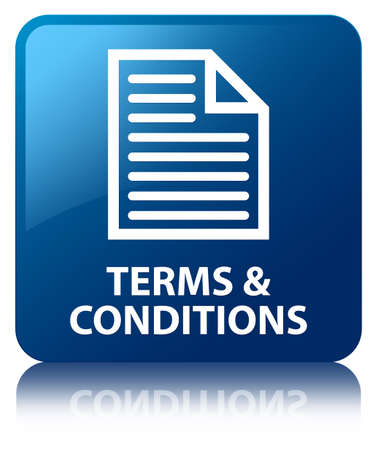 technology agreement: Terms and conditions (page icon) blue square button