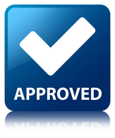 election choices: Approved (validate icon) blue square button