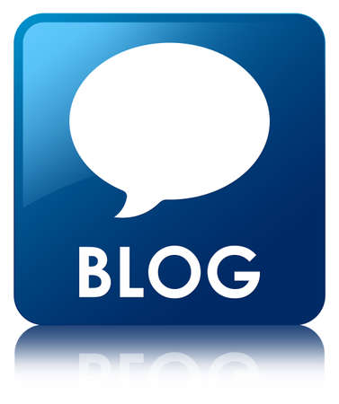 Blog (conversation icon) blue square button