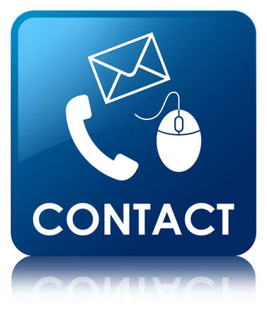 flysheet: Contact (phone, email and mouse icon) blue square button