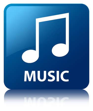 tune: Music (tune icon) blue square button