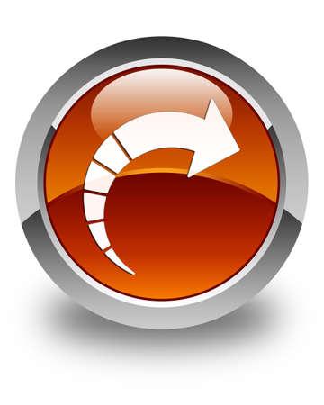 go forward: Next arrow icon glossy brown round button