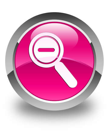 focus on shadow: Zoom out icon glossy pink round button
