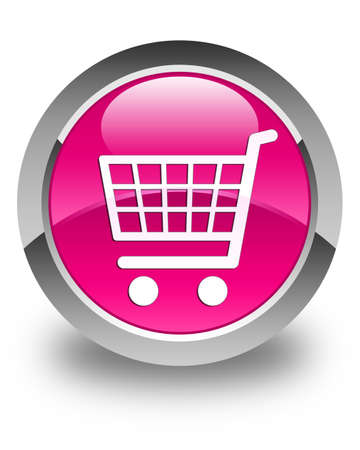 technology transaction: Ecommerce icon glossy pink round button