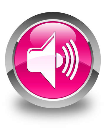 volume: Volume icon glossy pink round button