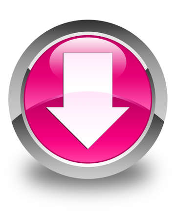 down load: Download arrow icon glossy pink round button
