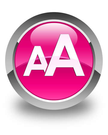 size: Font size icon glossy pink round button