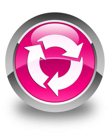 refresh button: Refresh icon glossy pink round button