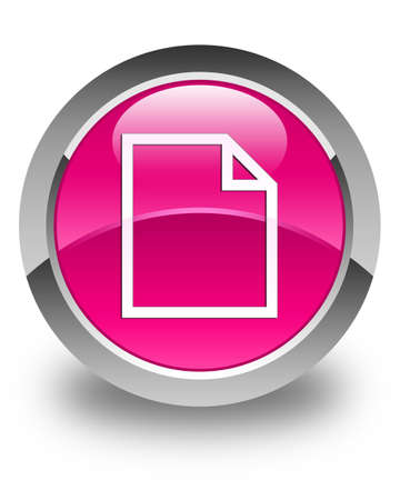 bends: Blank page icon glossy pink round button Stock Photo