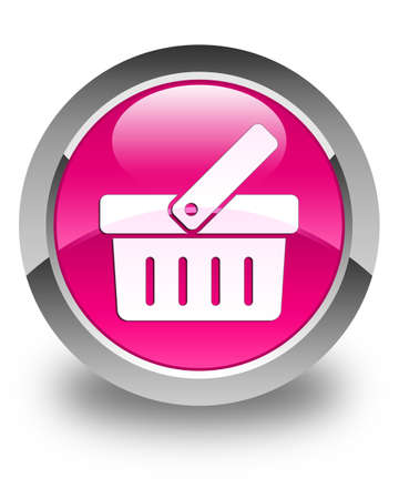 check out: Shopping cart icon glossy pink round button