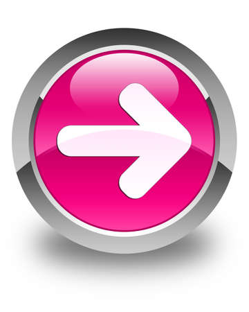 go forward: Next arrow icon glossy pink round button