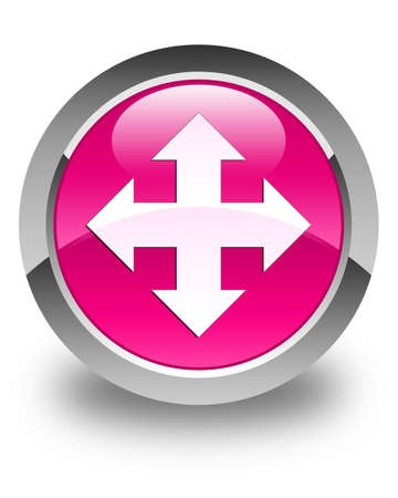 move ahead: Move icon glossy pink round button