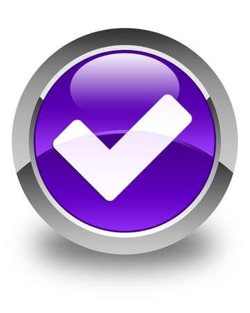 validate: Validate icon glossy purple round button