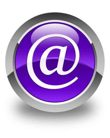 contact us: Email address icon glossy purple round button