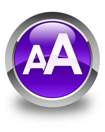 size: Font size icon glossy purple round button