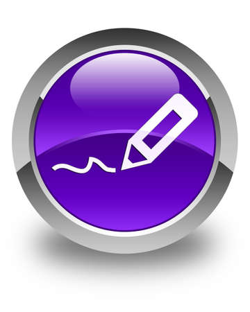 sign up icon: Sign up icon glossy purple round button