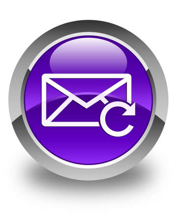 email us: Refresh email icon glossy purple round button