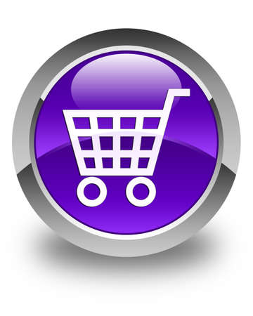 technology transaction: Ecommerce icon glossy purple round button