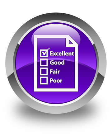 questionnaire: Questionnaire icon glossy purple round button Stock Photo
