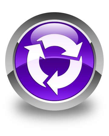refresh button: Refresh icon glossy purple round button