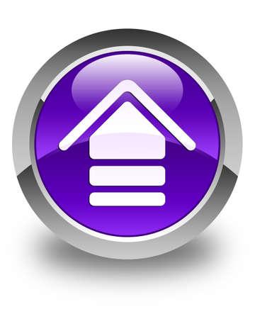 upload: Upload icon glossy purple round button