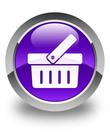 check out: Shopping cart icon glossy purple round button Stock Photo
