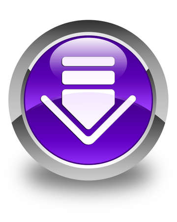 down load: Download icon glossy purple round button
