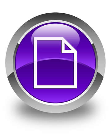 bends: Blank page icon glossy purple round button
