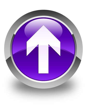 upload: Upload arrow icon glossy purple round button Stock Photo