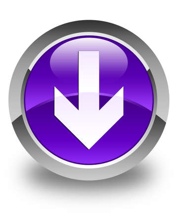 down load: Download arrow icon glossy purple round button