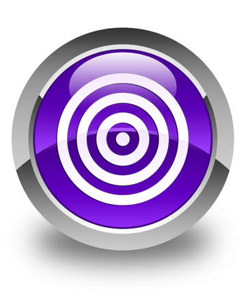 symbol sport: Ziel Symbol gl�nzend lila runde Taste