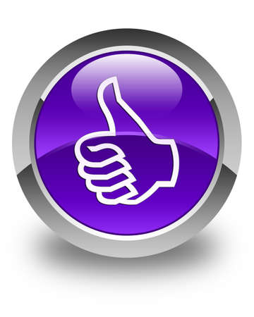 good deal: Like icon glossy purple round button