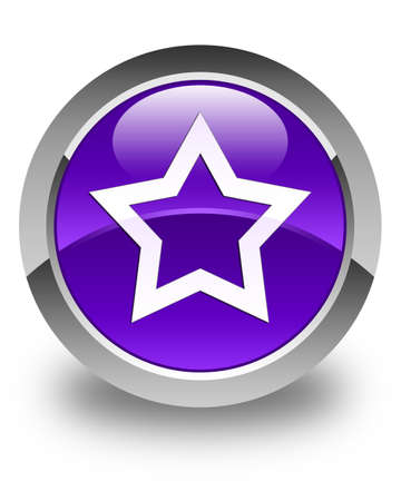 love symbols: Star icon glossy purple round button