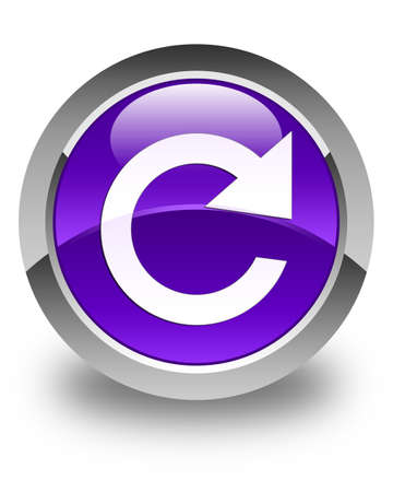 reply: Reply rotate icon glossy purple round button