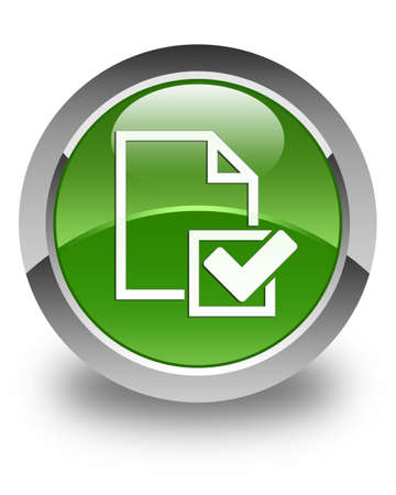 validate: Checklist icon glossy soft green round button