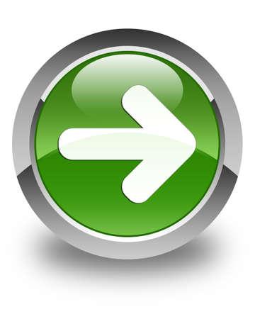 go forward: Next arrow icon glossy soft green round button