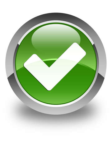 validate: Validate icon glossy soft green round button