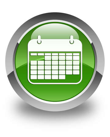 appointments: Calendar icon glossy soft green round button Stock Photo