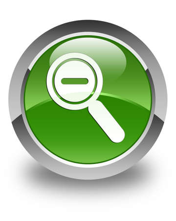 small tools: Zoom out icon glossy soft green round button Stock Photo