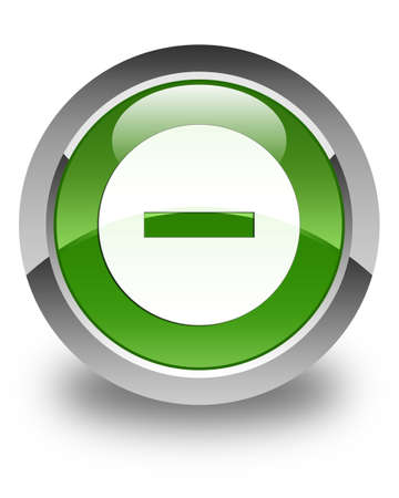 abort: Cancel icon glossy soft green round button Stock Photo
