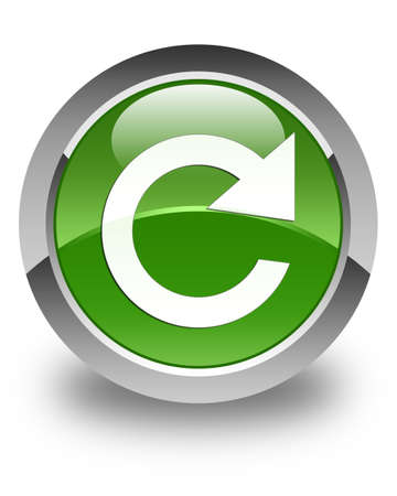 rotate: Reply rotate icon glossy soft green round button