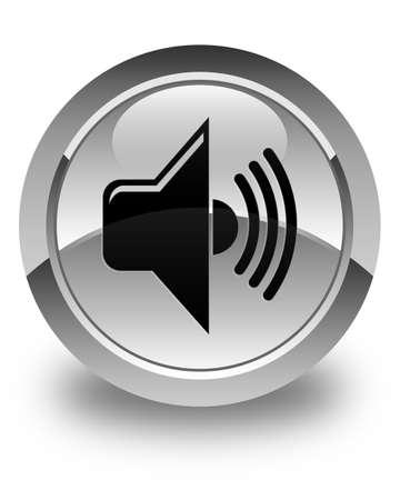 volume: Volume icon glossy white round button
