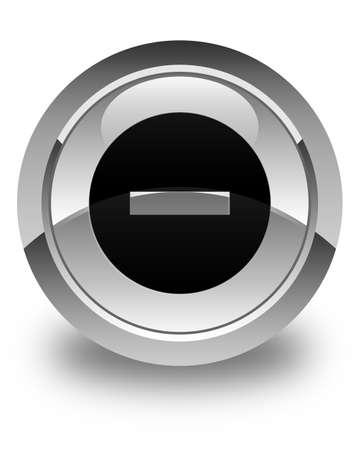 disagree: Cancel icon glossy white round button
