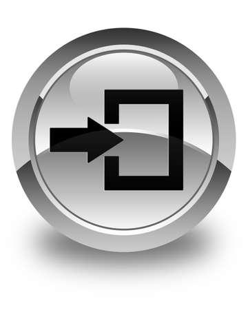 login icon: Login icon glossy white round button Stock Photo