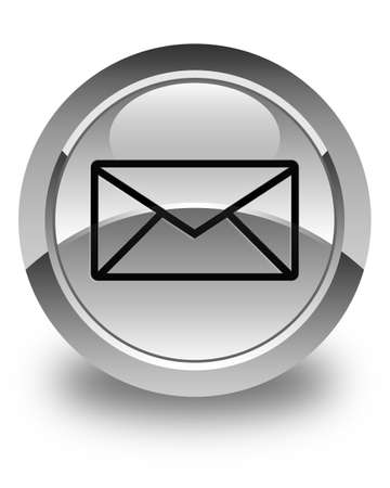 email: Email icon glossy white round button