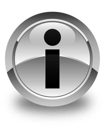 inquiry: Info icon glossy white round button
